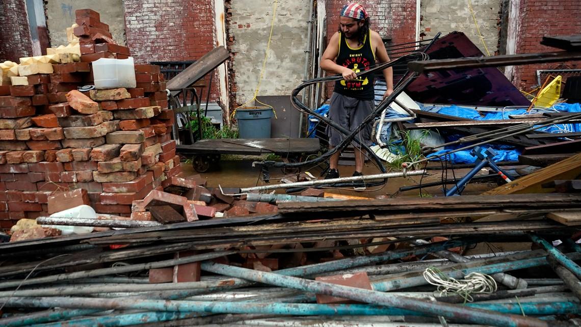 Tropical Storm Nicholas slows, dumps rain along Gulf Coast