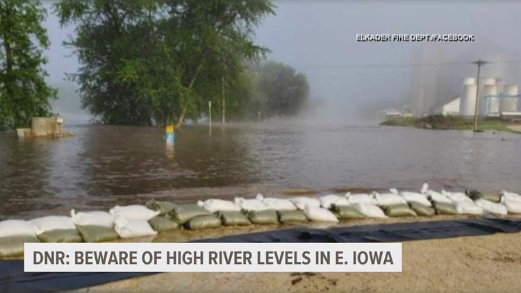 Iowa DNR: Stay away from swollen rivers