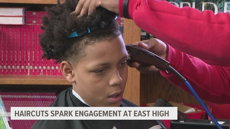 Haircuts at school? At Des Moines East, it means you're on the right path