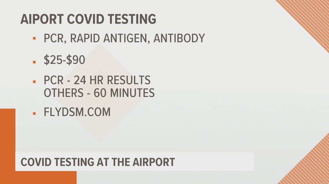 On-site COVID testing coming to Des Moines International Airport