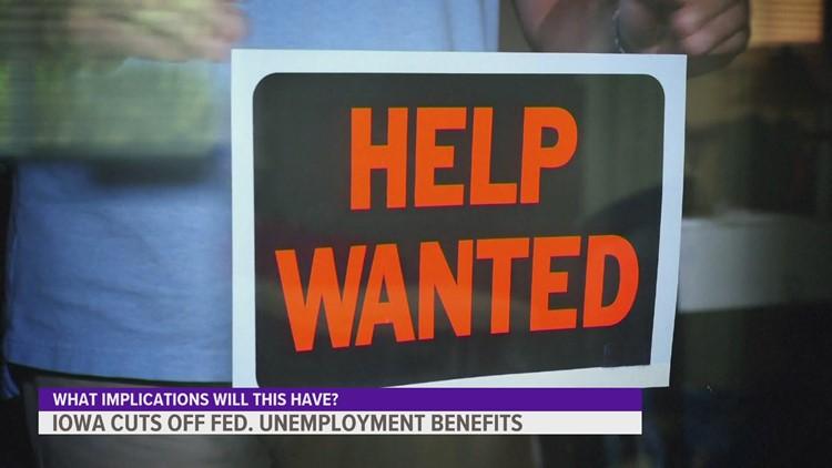 Will cutting off federal unemployment benefits get Iowans back to work?