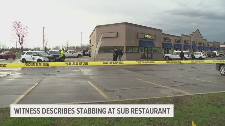 Witness describes aftermath of stabbing at Subway restaurant
