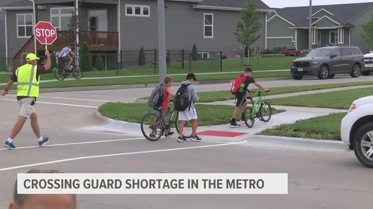 Some metro areas experiencing shortage of crossing guards