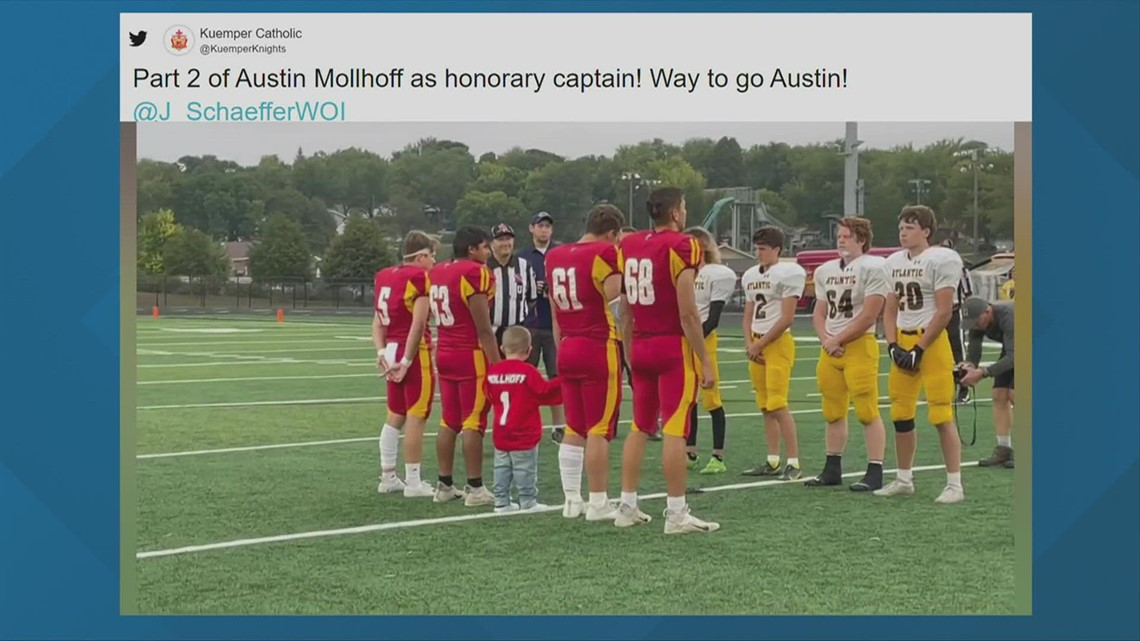 Fareway Game Ball: Austin Mollhoff, Kid Captain for Kuemper Catholic