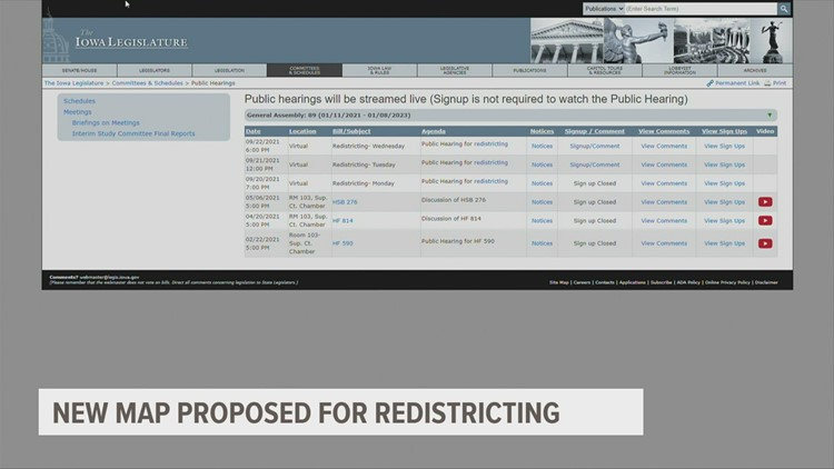 How Iowans can provide input on proposed redistricting maps
