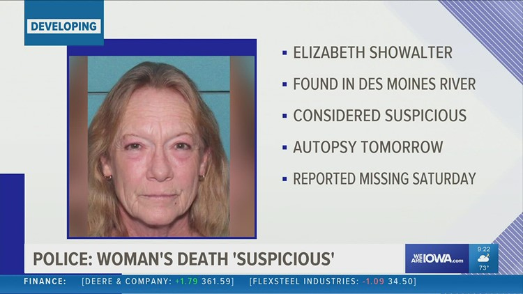 Missing Ottumwa woman's body found in Des Moines river, police investigating death as suspicious