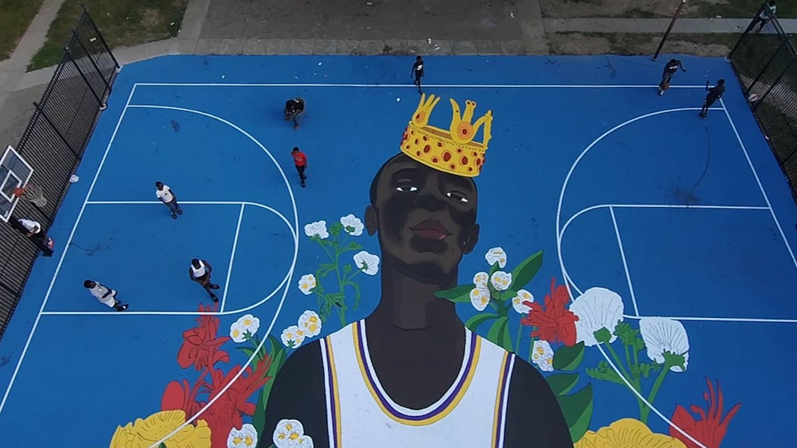Yore Jieng basketball mural dedication in Des Moines