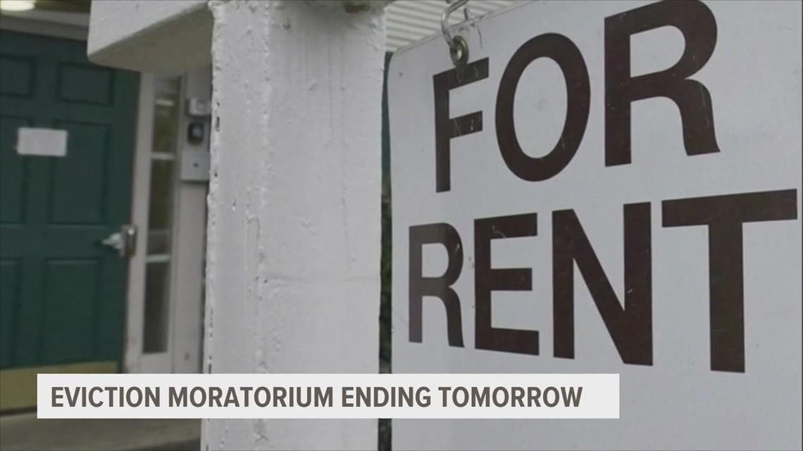 Eviction moratorium ending Saturday