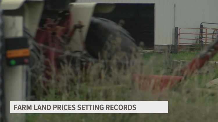 Farm land prices setting records