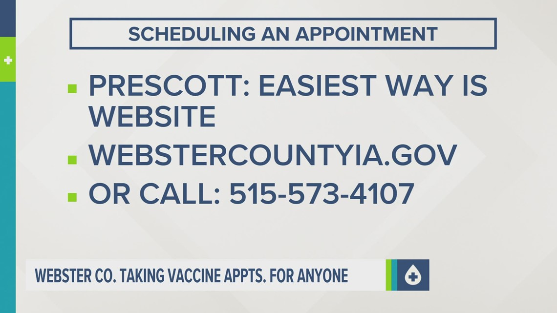 Webster County filling vaccine appointments for anyone who wants one