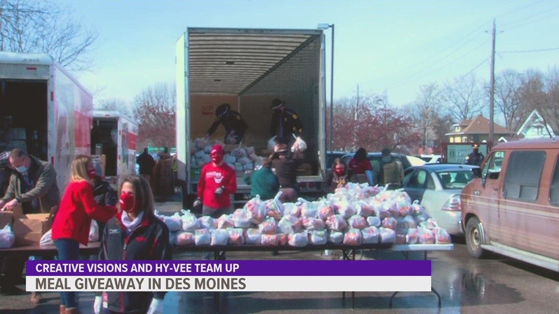 Creative Visions, Hy-Vee team up for meal giveaway