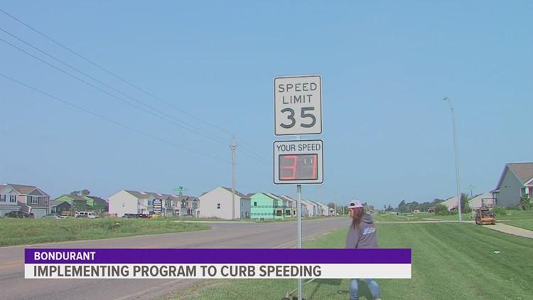 Bondurant sets up radar feedback signs to reduce speeding
