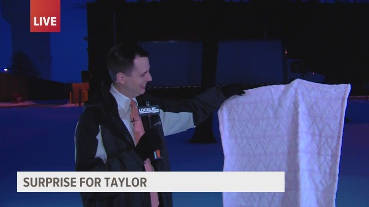 'Good Morning Iowa' team surprises Taylor Kanost as he begins paternity leave