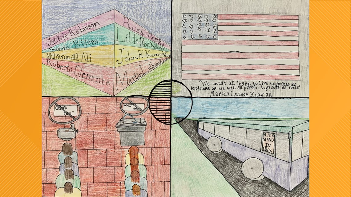 Indianola Middle School students share meaning behind Black History Month posters