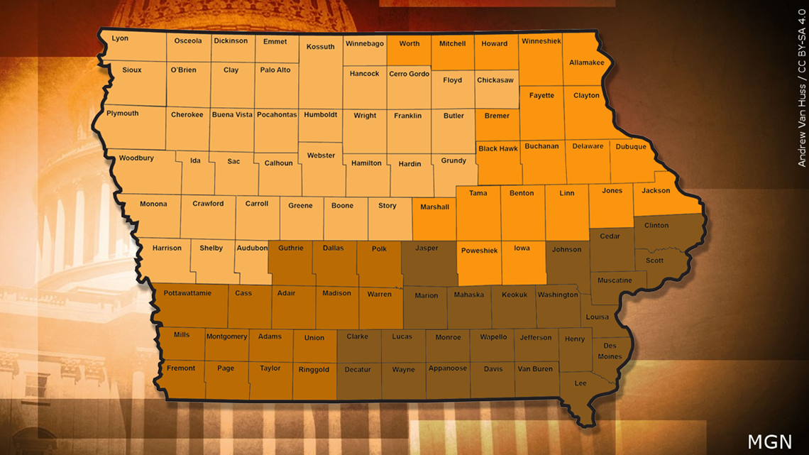 Iowa redistricting: 49 of 99 counties would change Congressional districts if new map approved