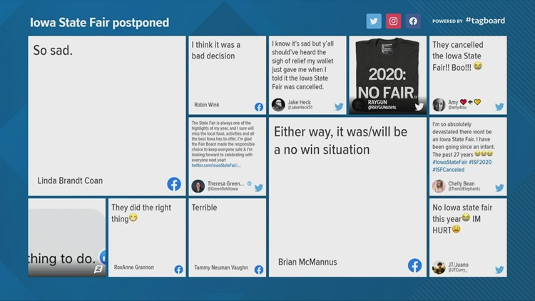 Social media reacts to 2020 Iowa State Fair being postponed