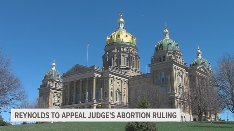 Gov. Reynolds will appeal ruling on abortion waiting period
