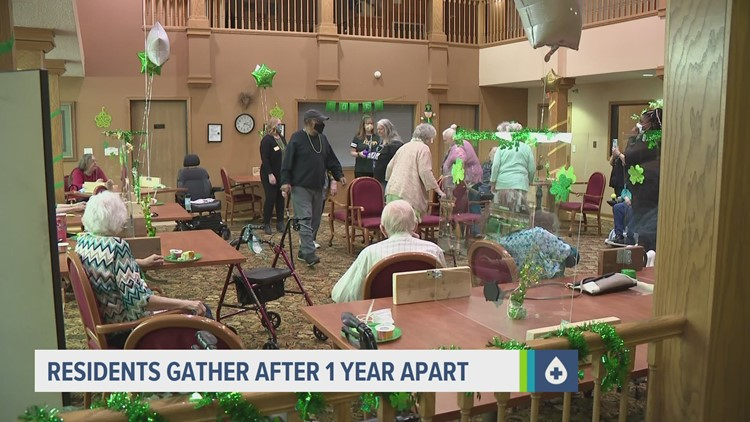 Assisted living residents celebrate grand reopening after year-long shutdown