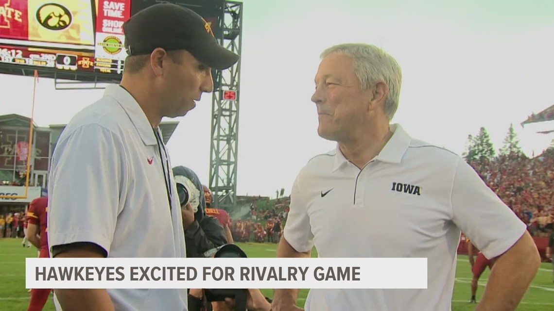 Iowa State Cyclones and Iowa Hawkeyes embrace the Cy-Hawk rivalry as they enter a Top-10 matchup