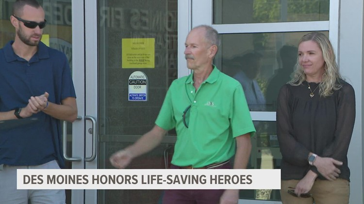 City of Des Moines honors heroes who saved life of runner during DAM to DSM race