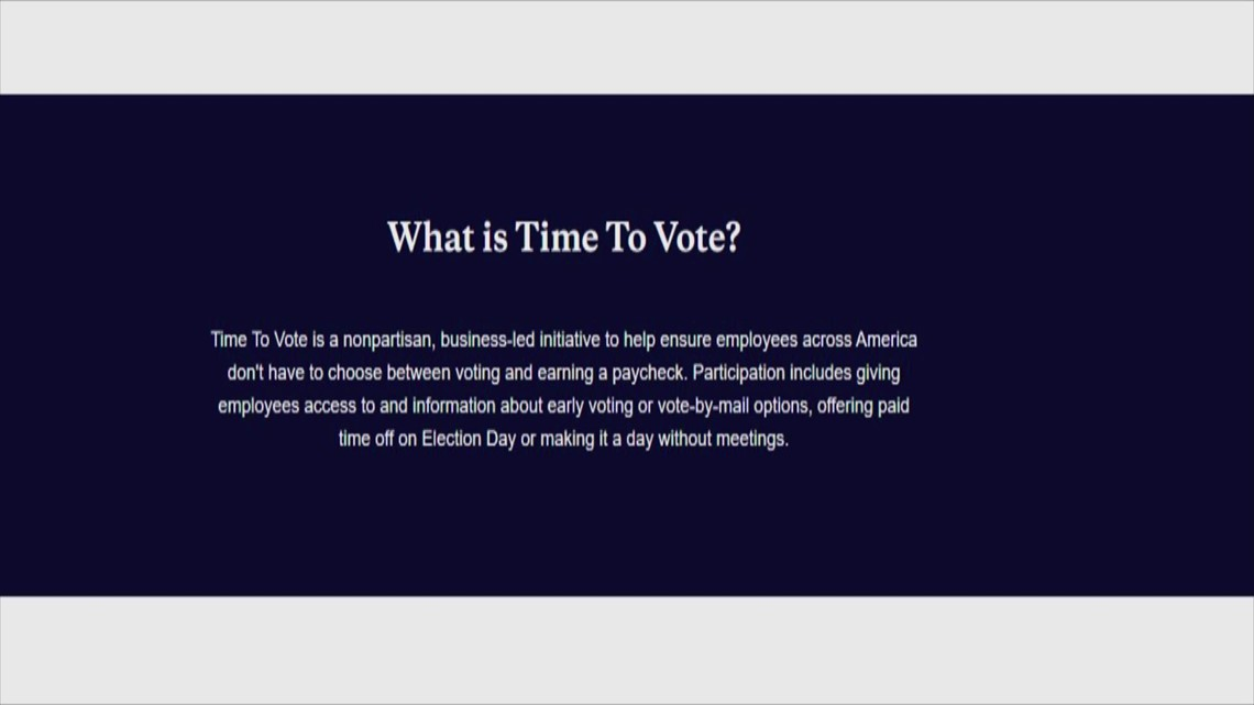 Can you take time off from work to vote on Election Day?