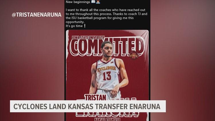 ISU lands Kansas transfer Tristan Enaruna