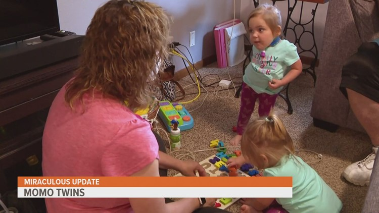 From crawling to walking: MoMo twins continue on incredible health journey