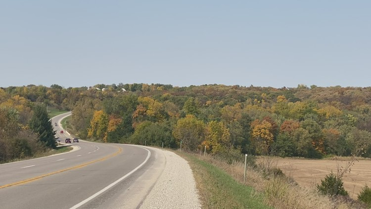 Take a look at the beautiful, fall colors in central Iowa