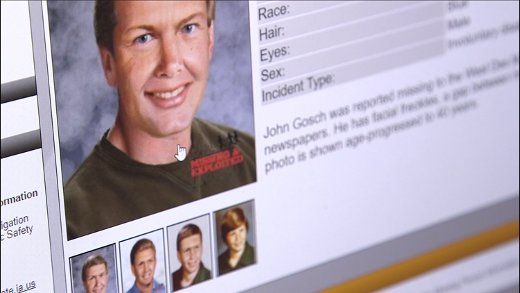 From cold cases, to recent disappearances: How Iowa maintains their database of missing persons