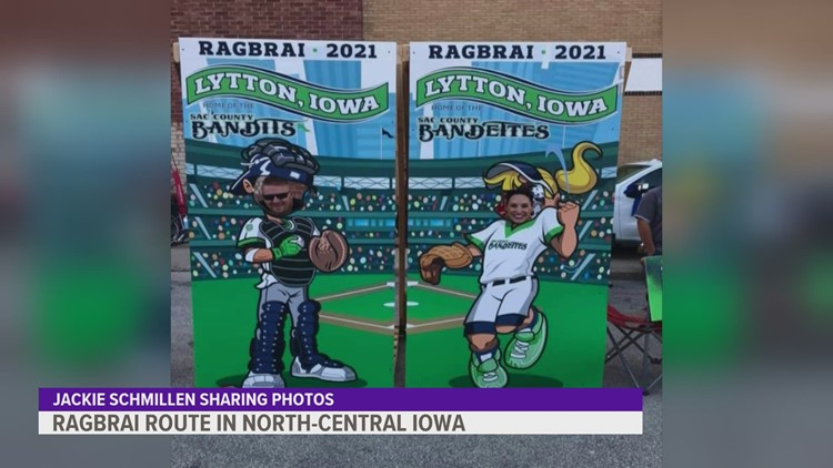 Cyclists travel about 67 miles from Sac City to Fort Dodge for RAGBRAI Day 2