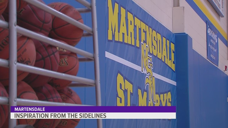 Martensdale-St. Marys using inspiration from sidelines in push for boys state basketball title