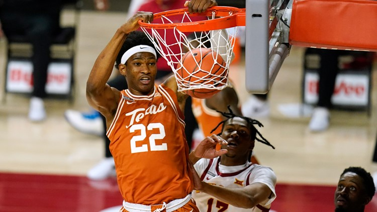 Kai Jones' 17 points lead No. 15 Texas past Cyclones; ISU still winless in Big 12 play