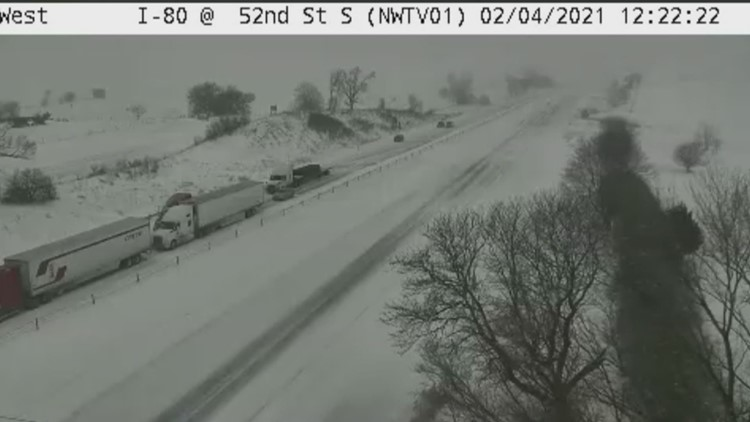 Multi-vehicle crash on I-80 near Newton (Feb. 4, 2021)