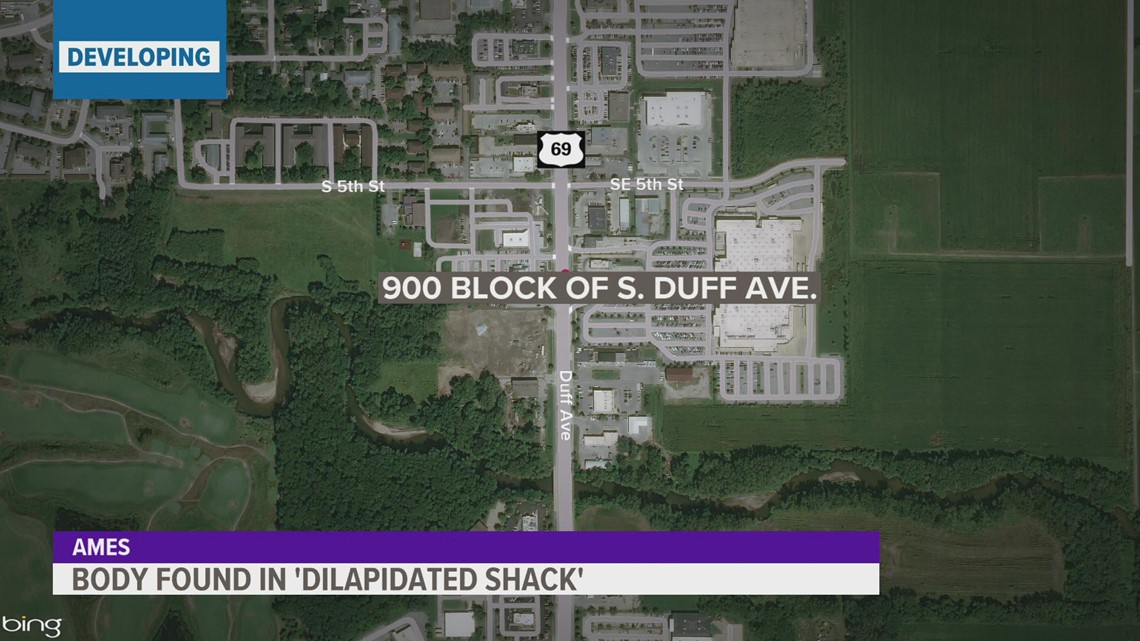 Ames Police investigating after body found in 'dilapidated shack'