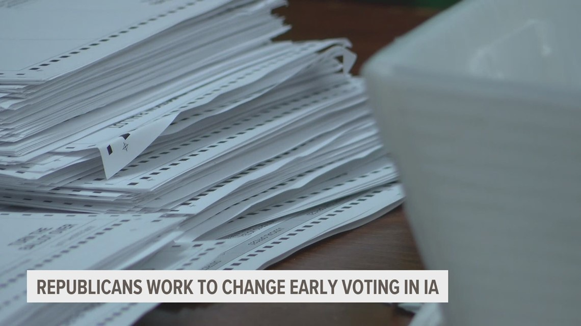 Republicans working to change early voting laws in Iowa