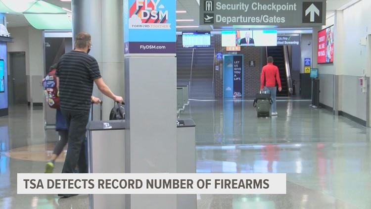 Guns caught at airports in 2021 already a record for TSA