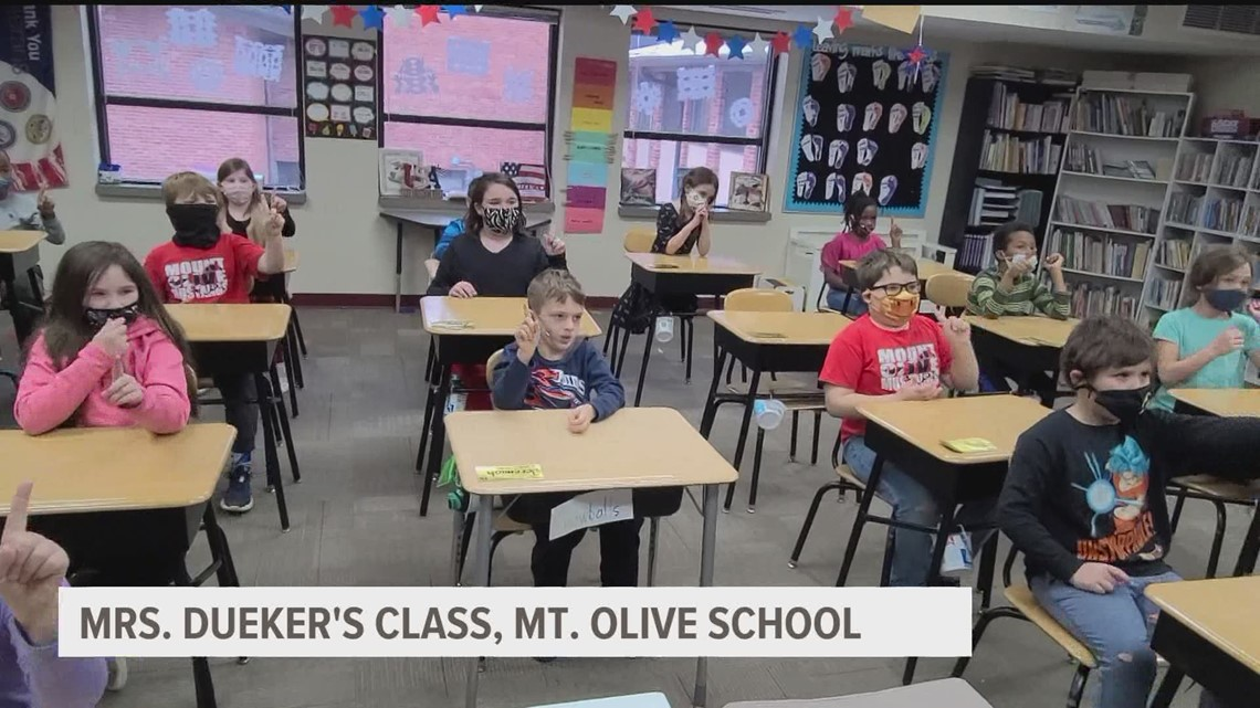 Students from Mount Olive Lutheran Church & School recite MLK's 'I Have A Dream' speech