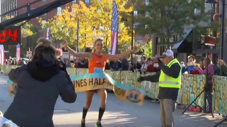 Thousands hit the street for Des Moines Marathon
