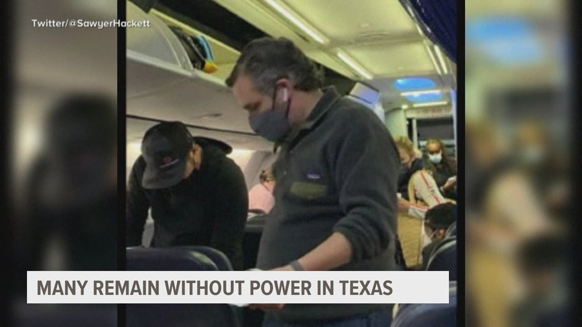 Sen. Ted Cruz returns to Texas from Cancun as residents struggle with power outages