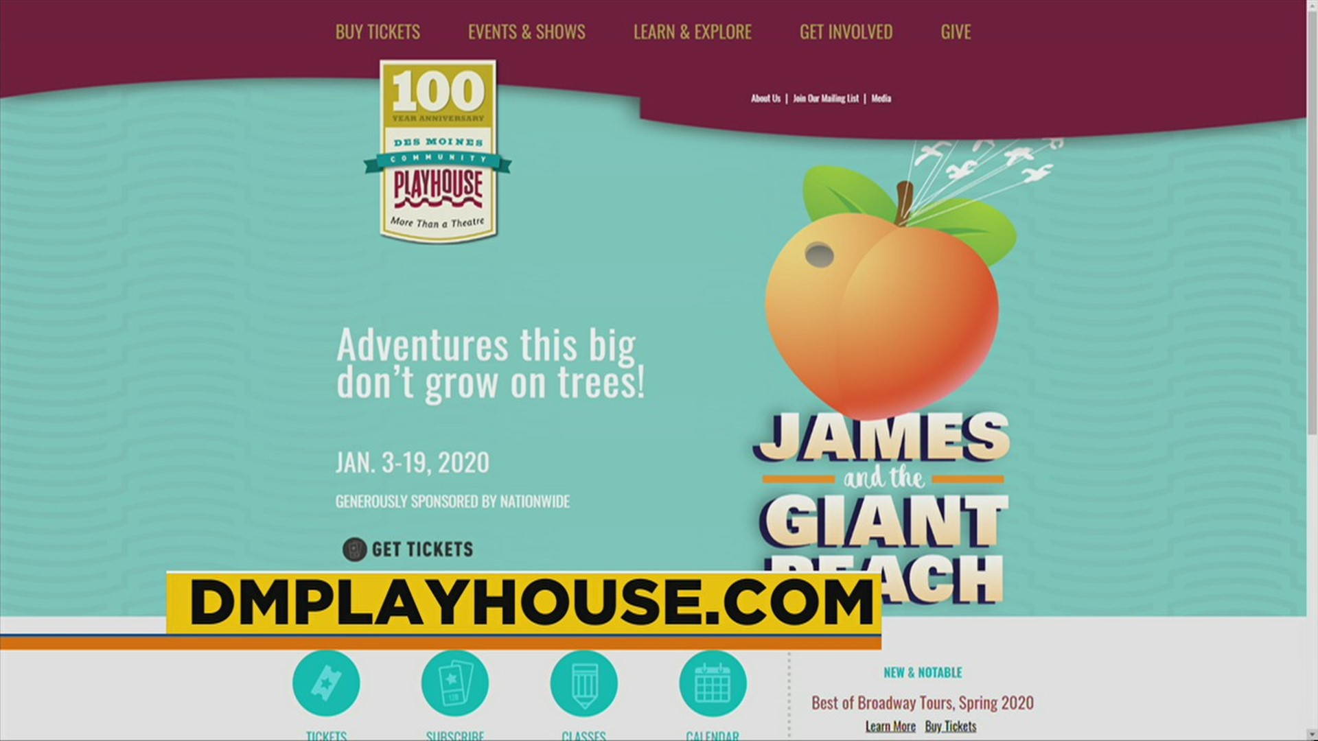 James And The Giant Peach At The Des Moines Playhouse Weareiowa Com