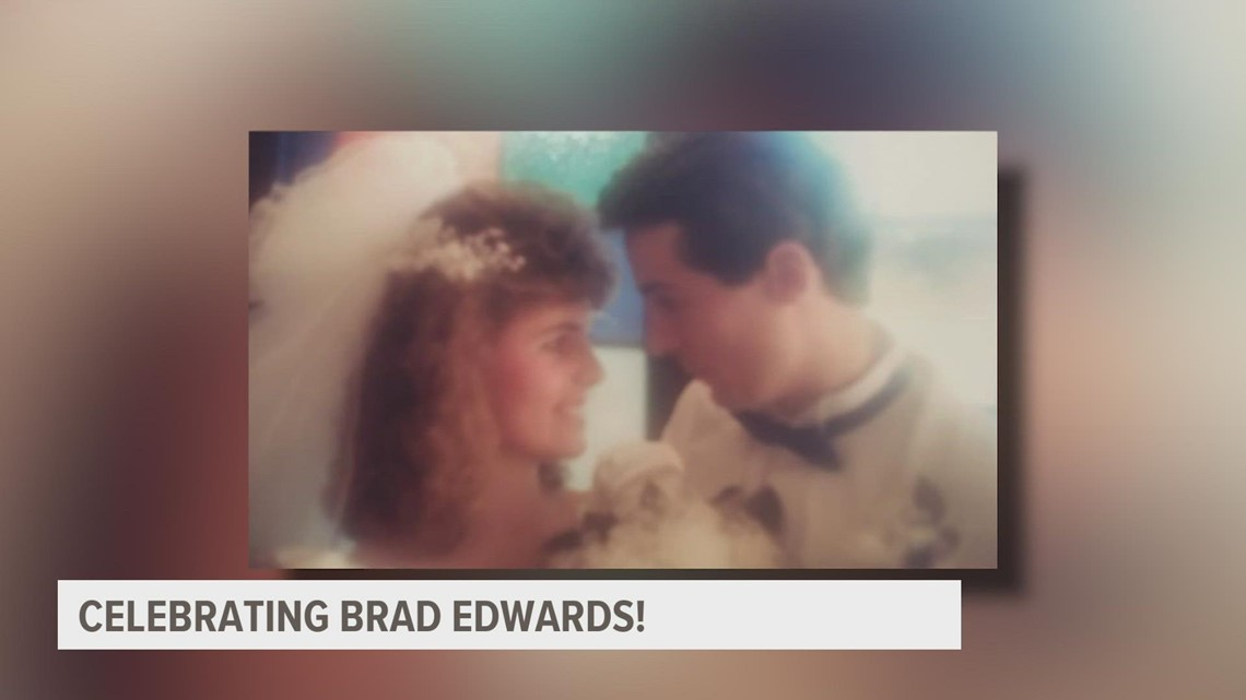Chief Meteorologist Brad Edwards's wife tells the story of how they met, start of his career
