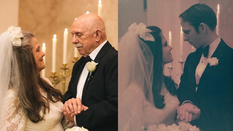 50 years later: Iowa couple recreates wedding photos to celebrate anniversary