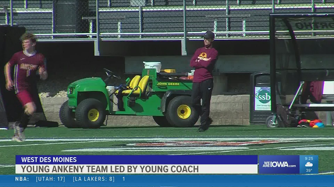 Ankeny Boy's Soccer led by young coach who was once in their shoes