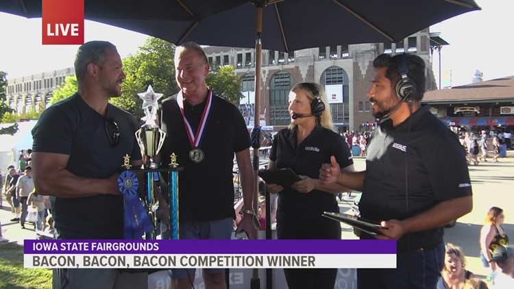 'Bacon Bacon Bacon' at the Iowa State Fair: Duo takes home two prizes with one tasty creation
