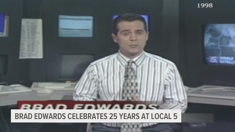 25 years at Local 5: Celebrating the weather career of Chief Meteorologist Brad Edwards
