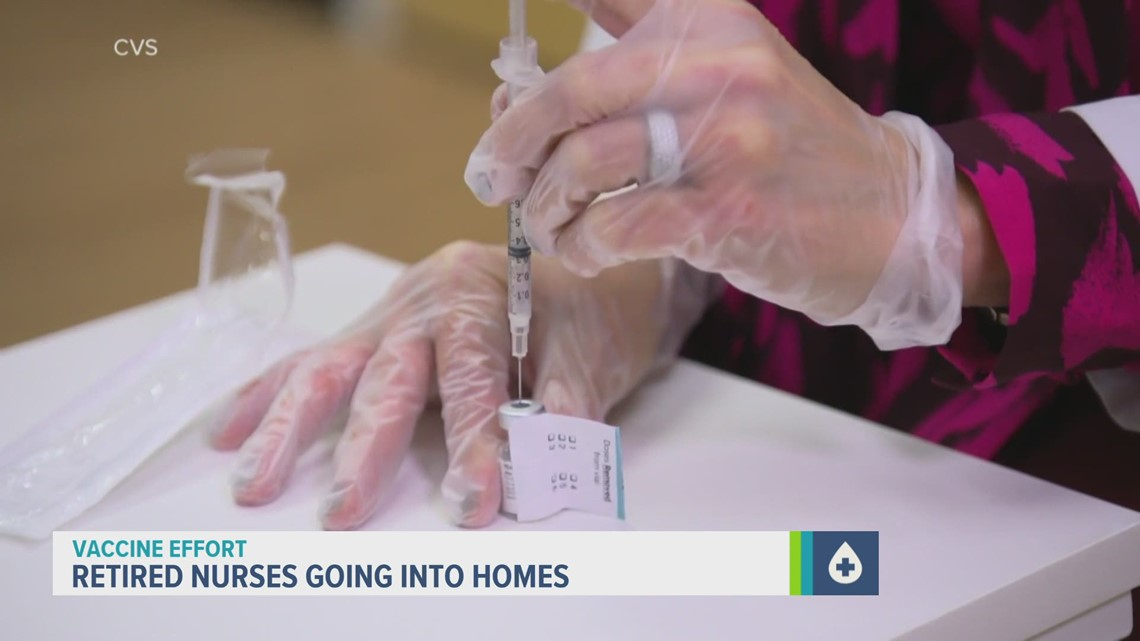 County health department deploys retired nurses to vaccinate homebound residents
