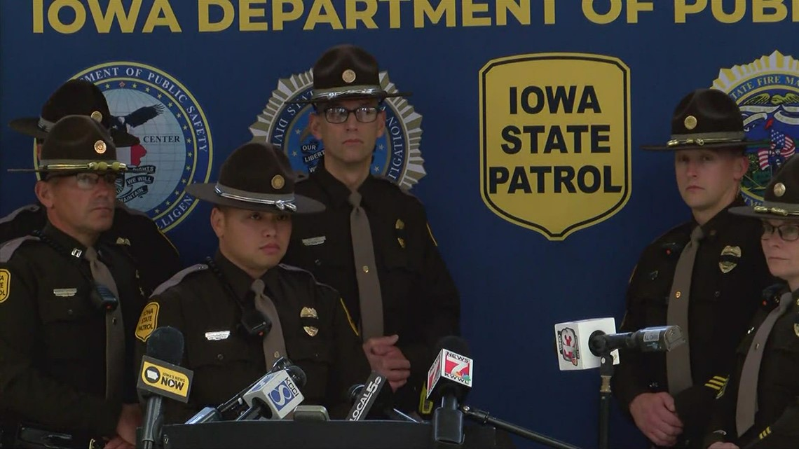 Iowa DPS holds press conference on trooper killed in Grundy Center standoff