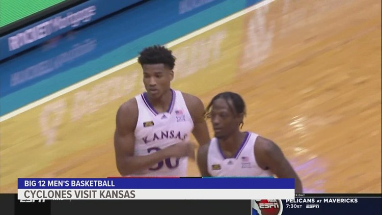 Kansas trounces Iowa State 97-64 for 2nd straight win after getting left off AP poll