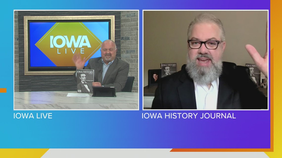 Abe Lincoln, MacKinlay Kantor & Cloris Leachman inside March/April edition of Iowa History Journal