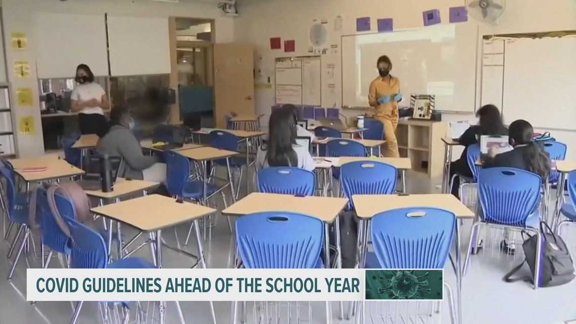 Health officials update mask guidance for vaccinated teachers, students